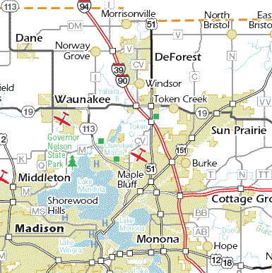 madison sun map